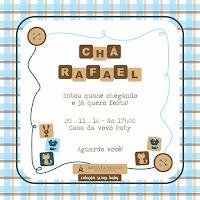 convite cha de bebe arte layout