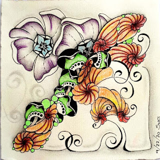 Square One Purely Zentangle September 18-24 with Ohana and Snakehead Mushees and Vinca