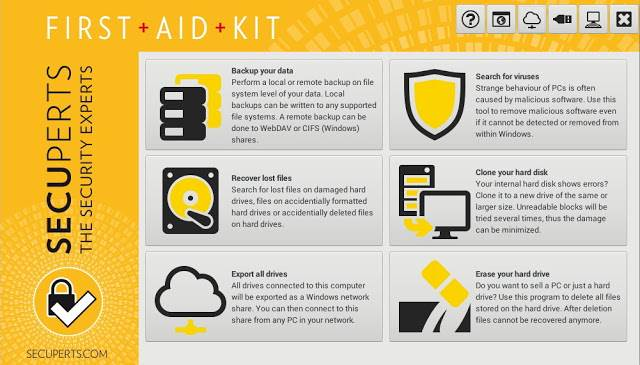 Screenshot Engelmann SecuPerts First Aid Kit Full Version