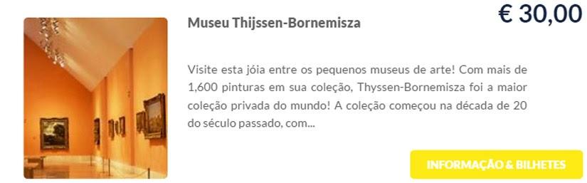 Madri - compre ingressos on-line para as atrações - Museu Thijssen-Bornemisza - Ticketbar