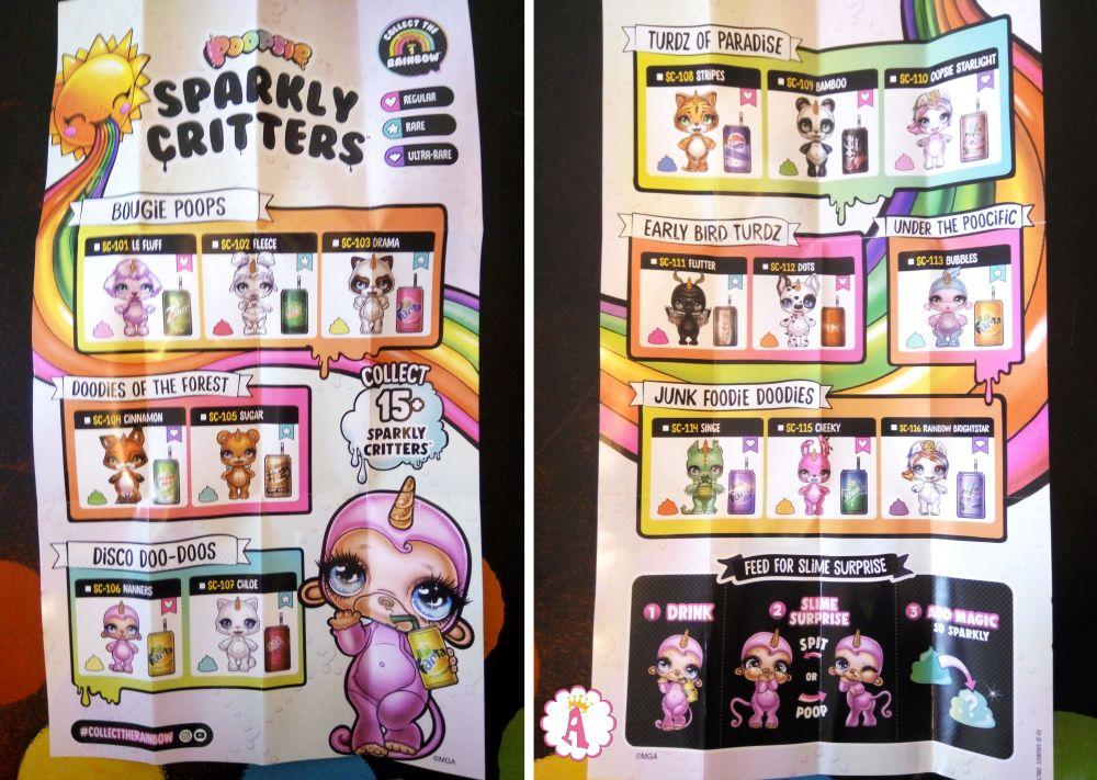 Вкладыш коллекционера к игрушкам Poopsie Sparkly Critters серия 1