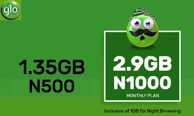 Glo Exciting Data Offers – Get 1.35GB Data for Just N500, 2.9GB for N1000 & More