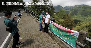 Pilihlah Tempat Wisata Out door merupakan tips aman traveling di tengah pandemi