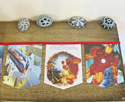 iron man bunting superhero marvel party nursery birthday domum vindemia