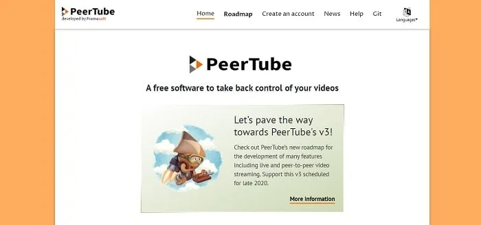 PeerTube - Best YouTube alternatives