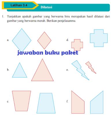 Kunci Jawaban Buku Paket MATEMATIKA 3.4 Dilatasi Halaman 179 180 181 182 Kelas 9 Kurikulum 2013