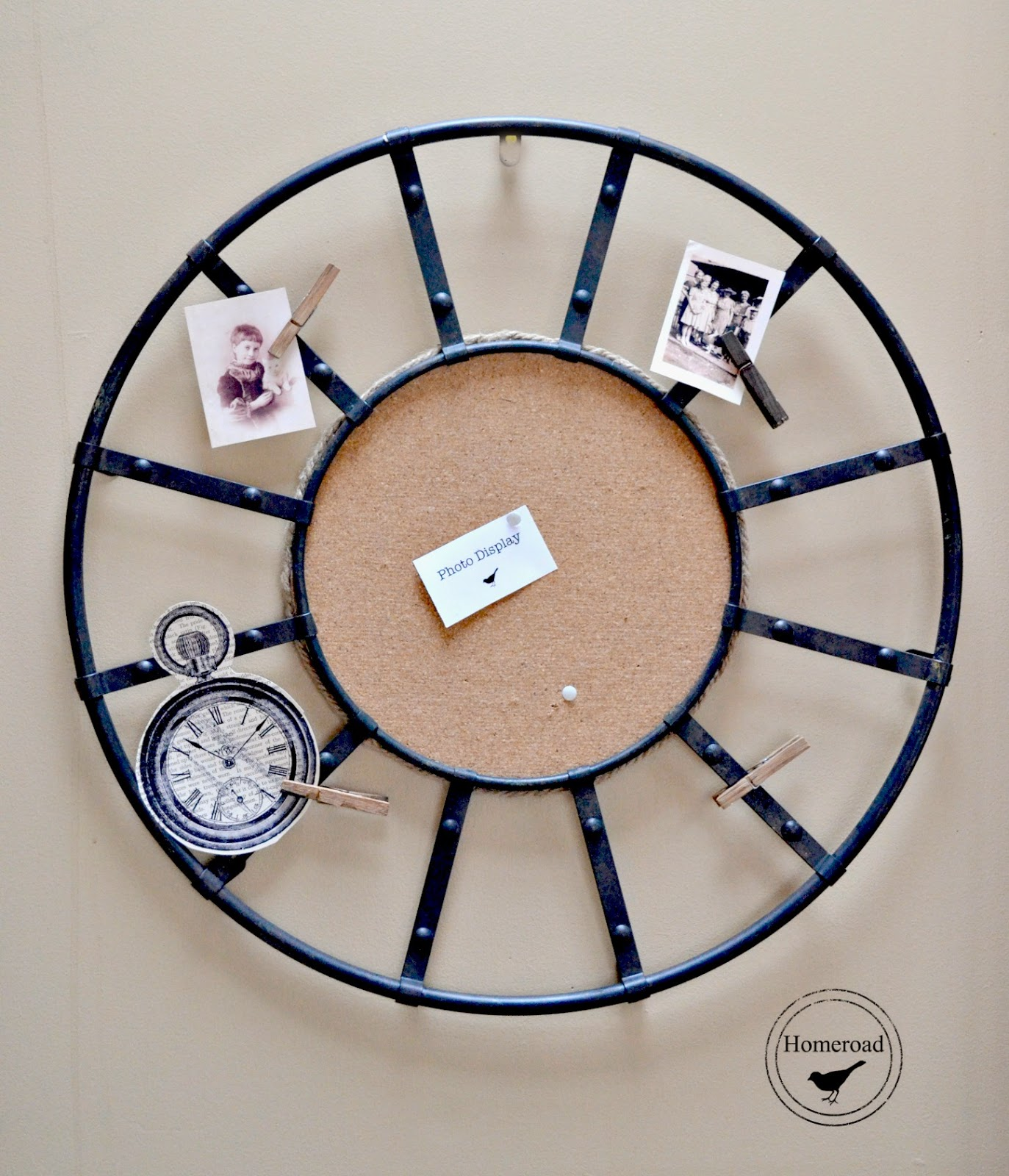 repurposed Kensington clock www.homeroad.net