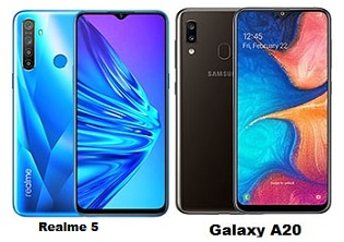 Realme 5 Vs Samsung Galaxy A20 Specs Comparison