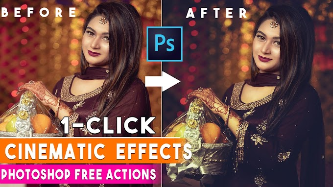 1 Click Cinematic Color Grading Effect Photoshop Actions Free Download