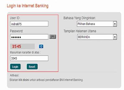 Cek Mutasi BNI Menggunakan Internet Banking 2