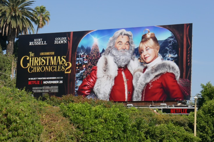 Christmas Chronicles 2 film billboard