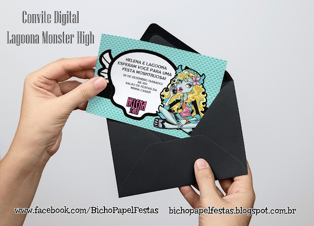 Convite Lagoona Monster High