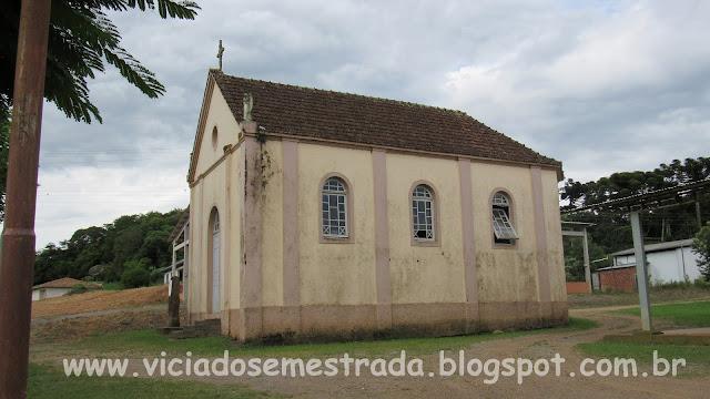 Antiga igreja Nossa Senhora do Rosário, interior de Cotiporã