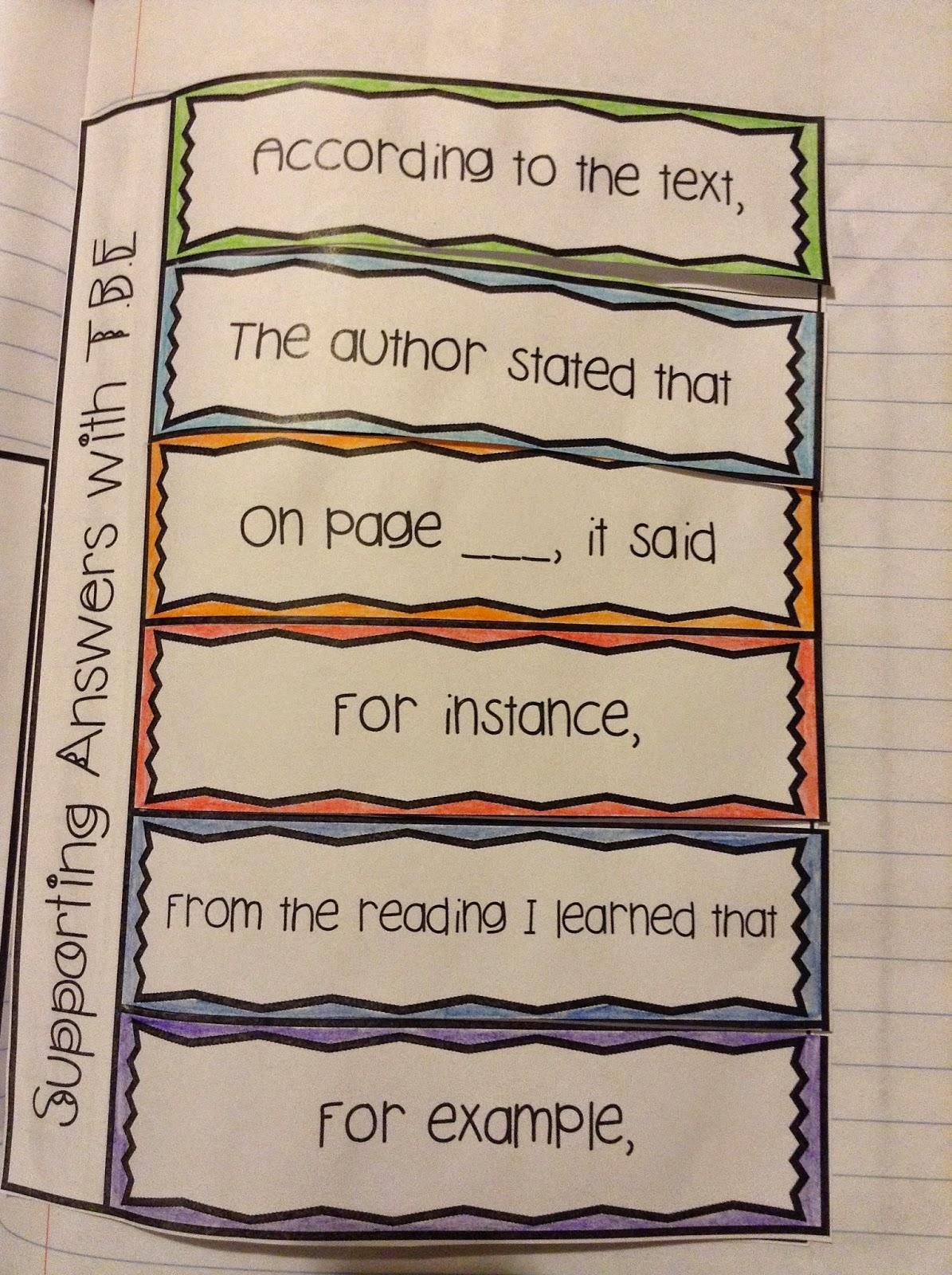 Upper Grades Mentor Text Lesson Text Based Evidence 4 Rl1