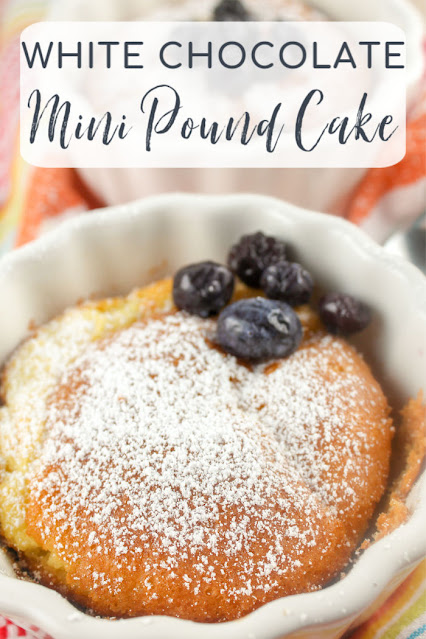 White Chocolate Mini Pound Cake