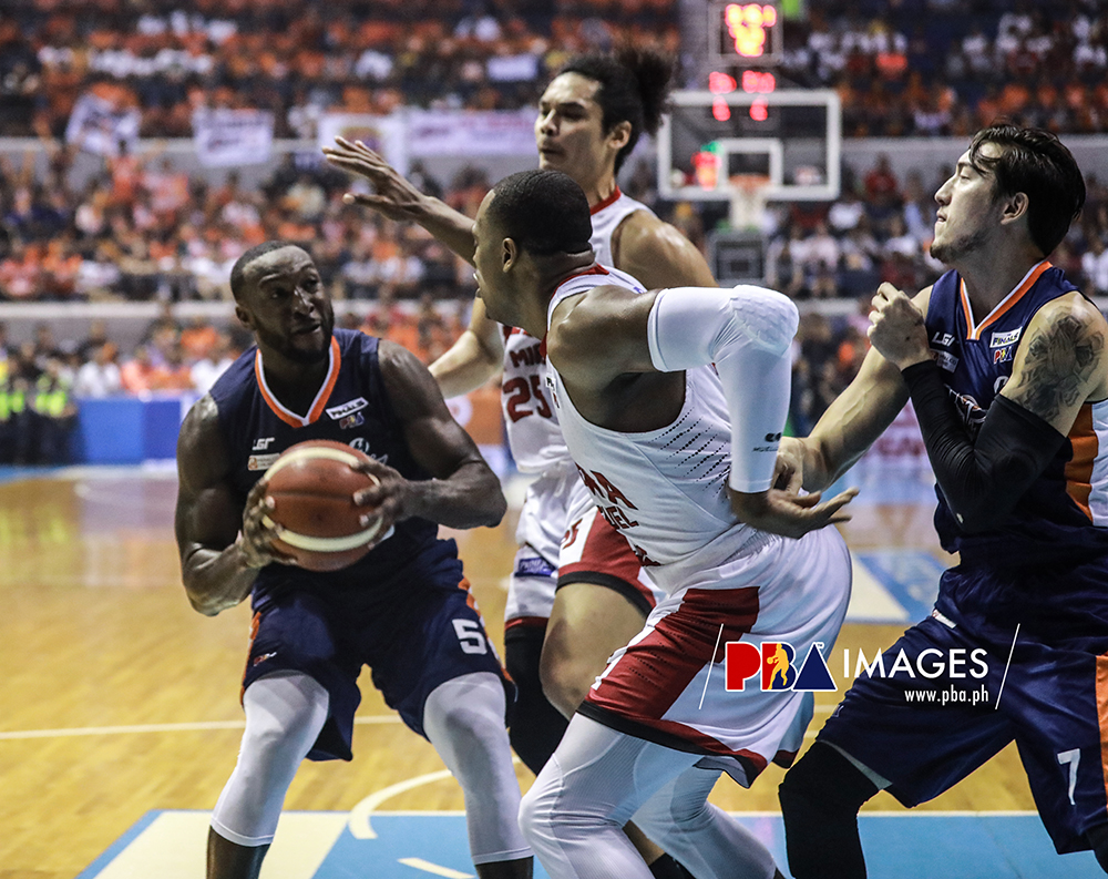 Allen Durham posted a solid double-double to help Meralco escaped Ginebra