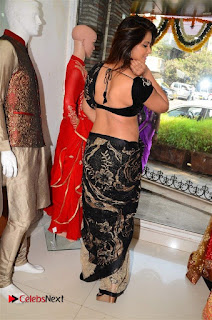 Actress Neetu Chandra Stills in Black Saree at Designer Sandhya Singh's Store Launch  0057.jpg