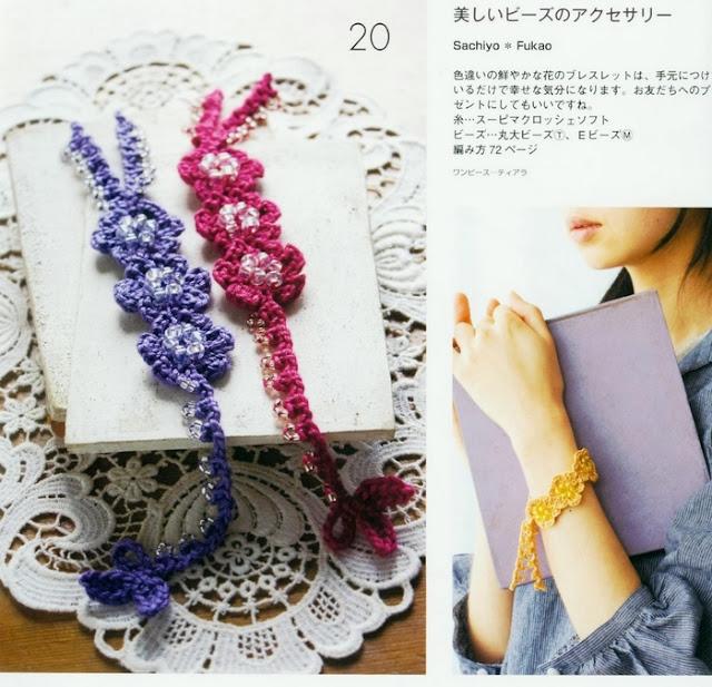 Pulsera Florecillas Crochet