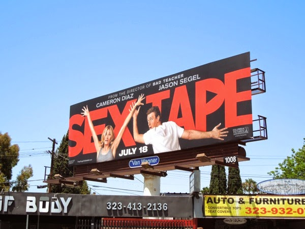Sex Tape film billboard