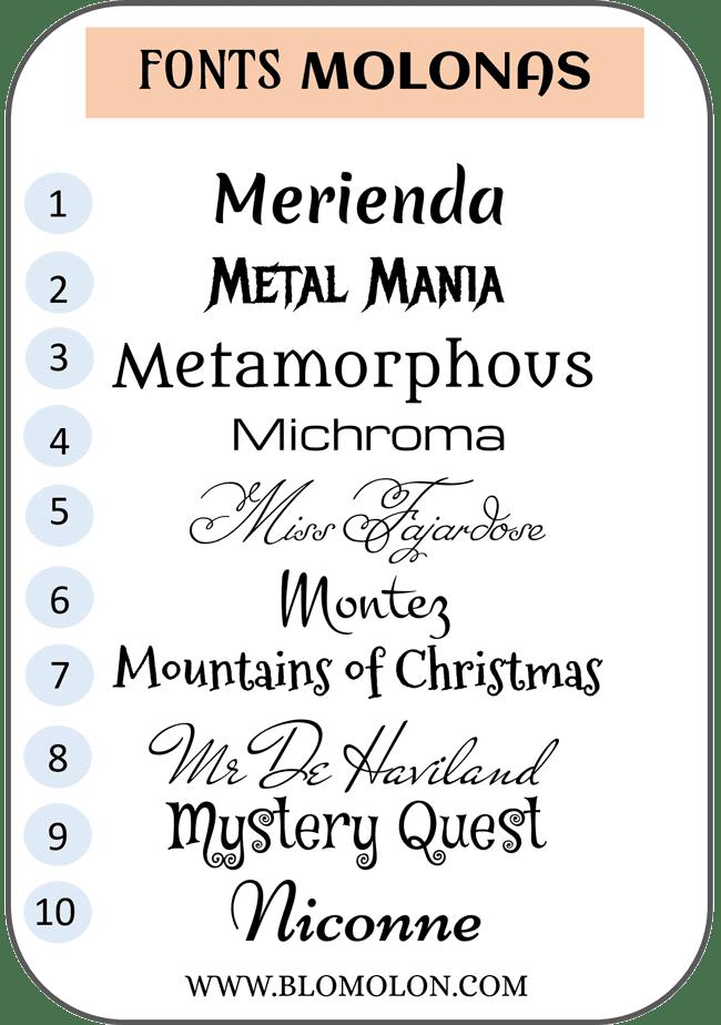 fonts molonas nueve