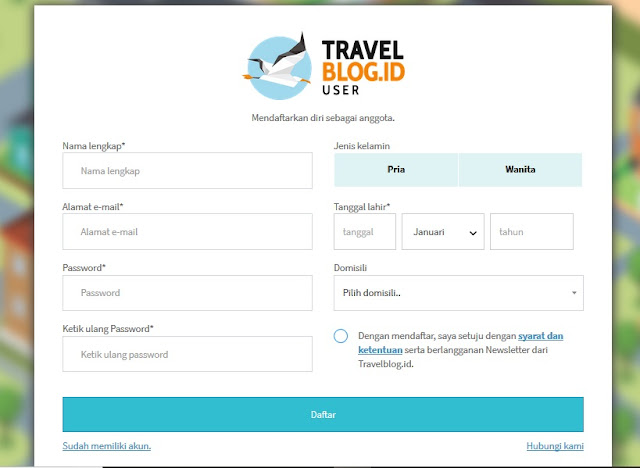 cara registrasi travelblogid