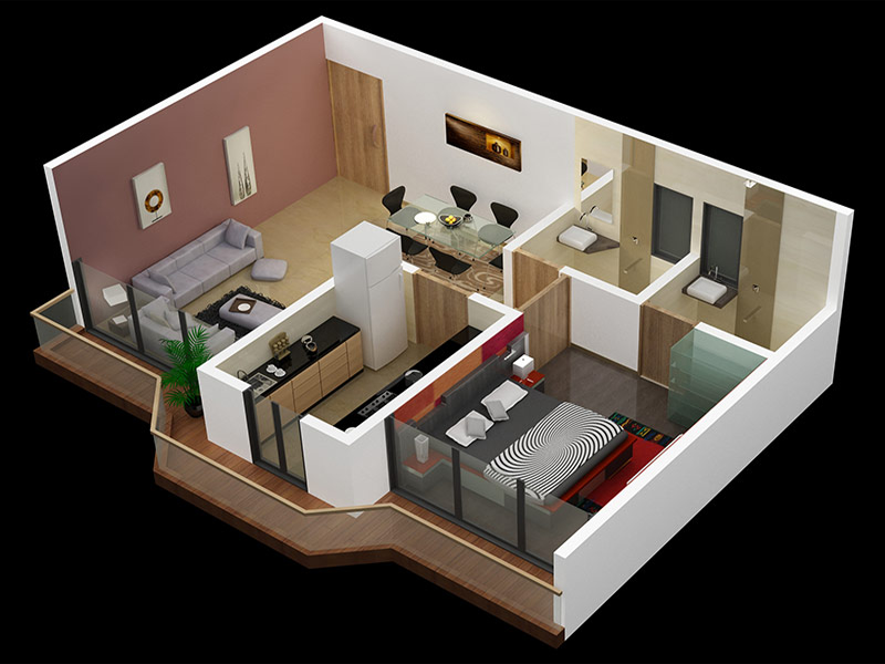 Desain Interior Rumah Minimalis 3D & 65 Desain Interior 3D Rumah Minimalis Terbaru 2017 - 2018 - Rumahku Unik