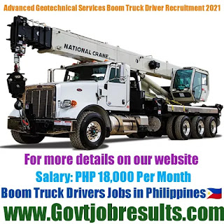 Advanced Geotechnical Engineering Services Boom Truck Driver Recruitment 2021-22