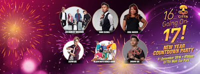Upcoming New Year Countdown Party di Citta Mall