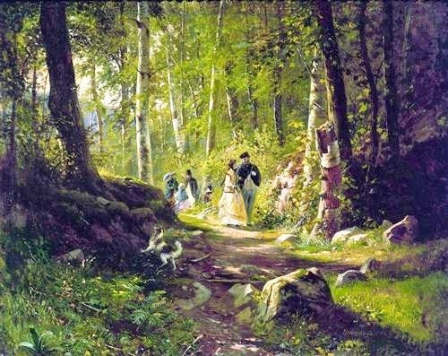 A Walk in the Forest_Ivan Shishkin 1869