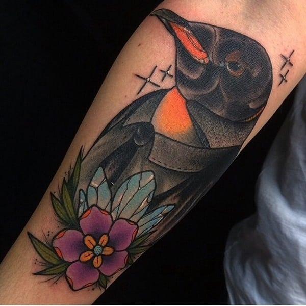 Tatuagens de pinguins