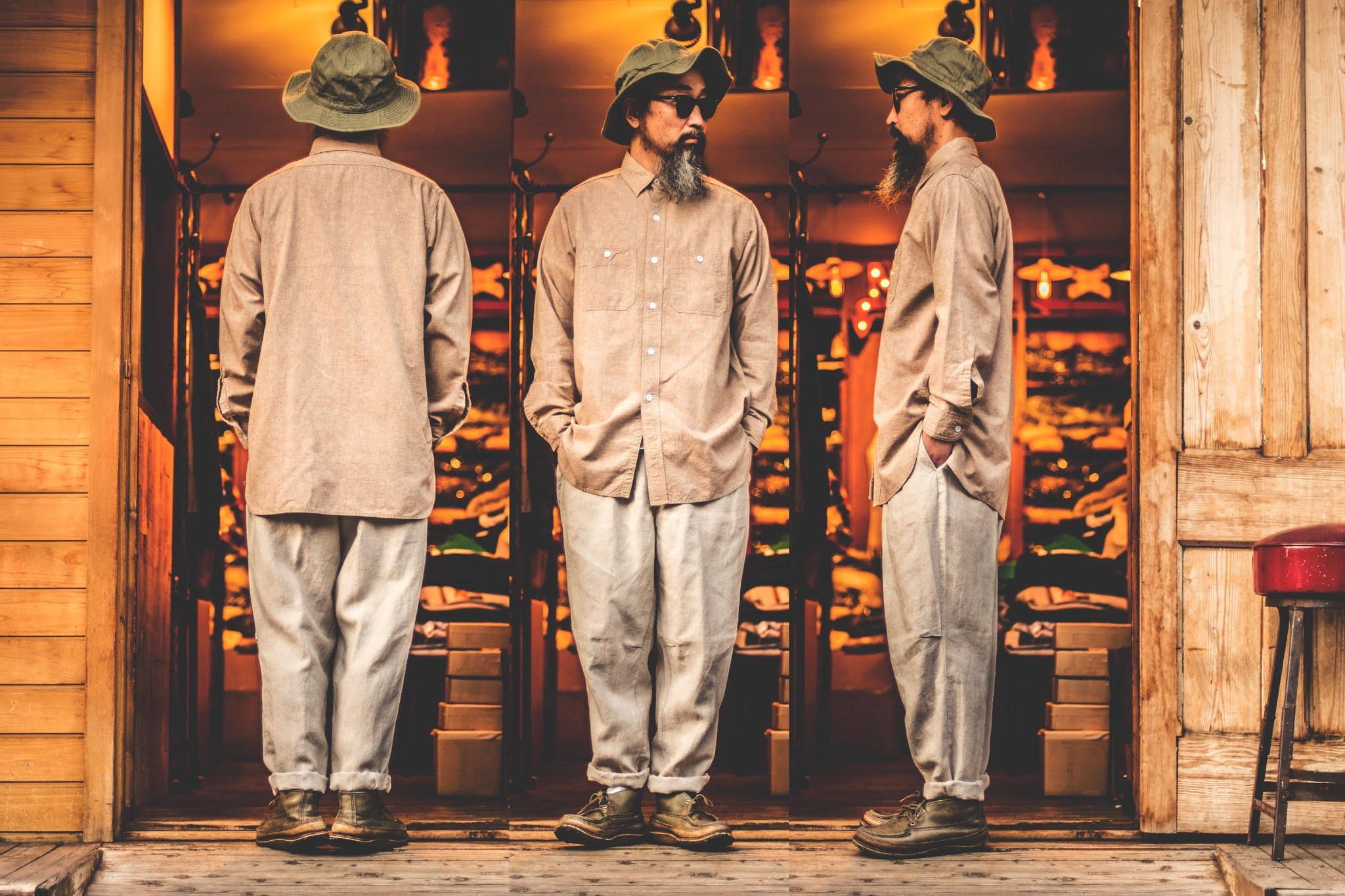 ワーカーズ シャンブレーシャツ ワークシャツ ヴィンテージ シルエット コーディネート 通販