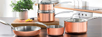 5 piece copper pan set