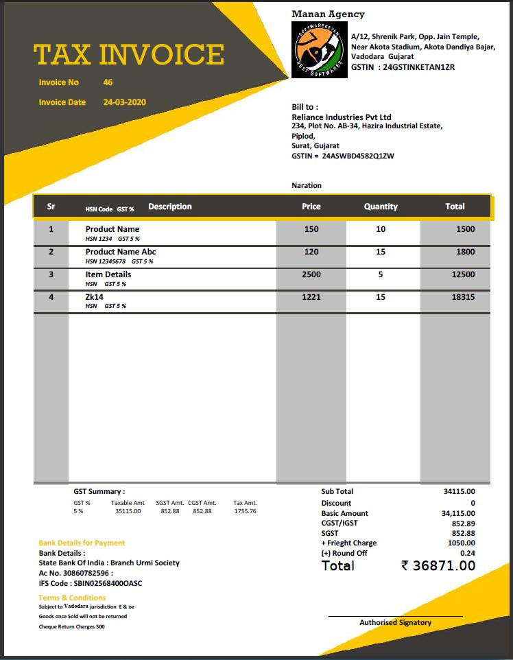 Invoice Designs