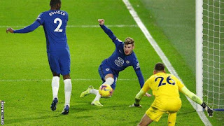 Chelsea striker Werner reveals his delight after finally ending his 15-game goal drought