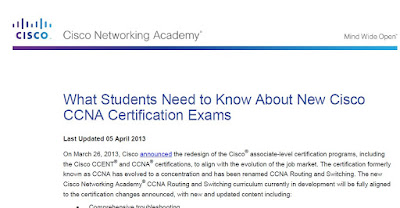 What Students Need to Know About New CCNA Certification Exams