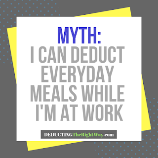 Tax Myths: Deducting Personal Meals I Eat At Work | www.deductingtherightway.com