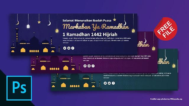 Free Spanduk :  Download 5 Banner Ramadhan Illustrator,  Coreldraw Gratis