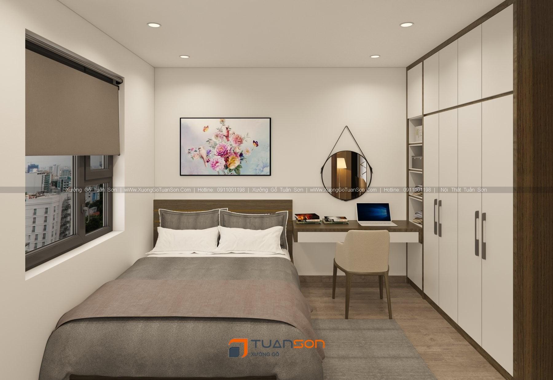 Thiết kế thi công nội thất căn hộ IEC Thanh Trì