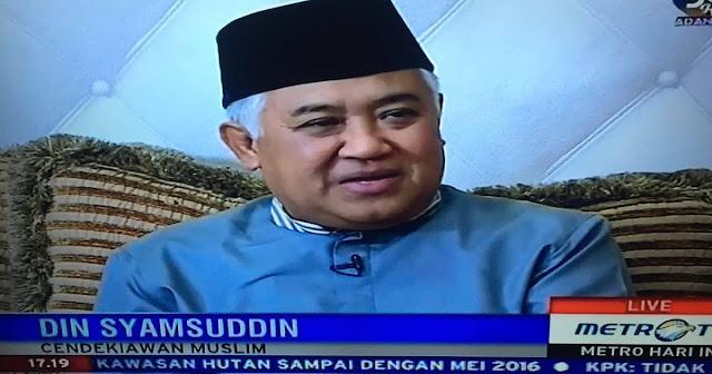Din Syamsuddin: Tak Dapat Diingkari, Yang Diucapkan Ahok Di Pulau Seribu Adalah Penistaan Agama