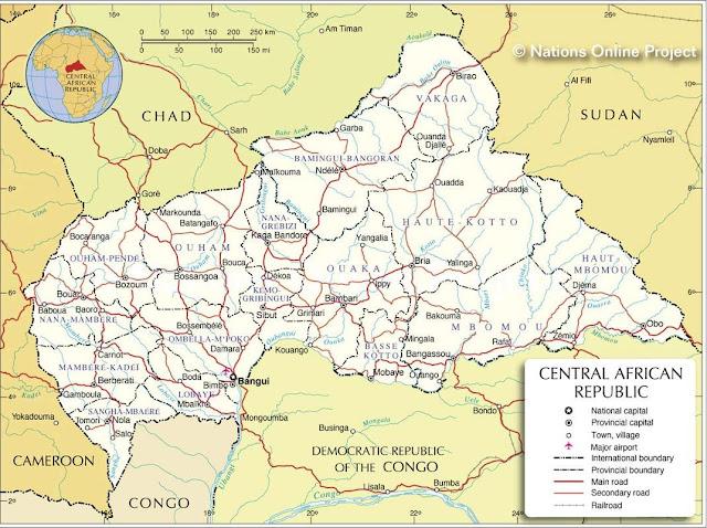 Resultado de imagen de Francia tiene intereses en Centroáfrica.