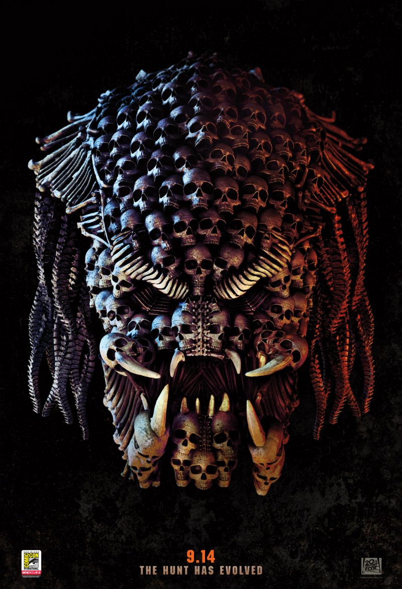 THE PREDATOR comic-con poster