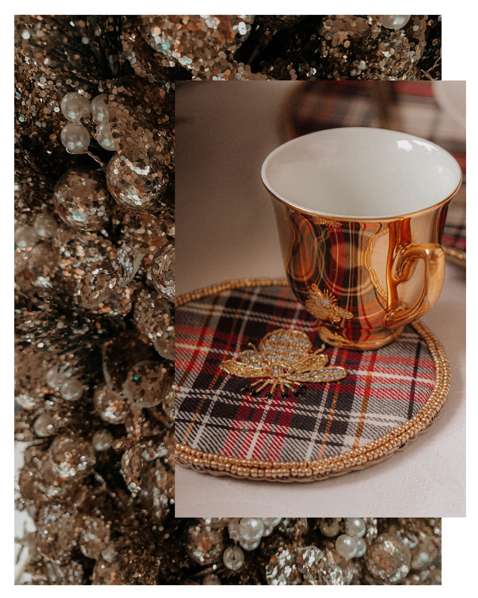Joanna Buchanan Plaid Bee Coasters