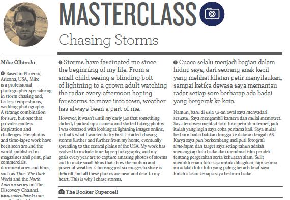 Contoh rubrik Master Class dalam Majala Colours Garuda Indonesia