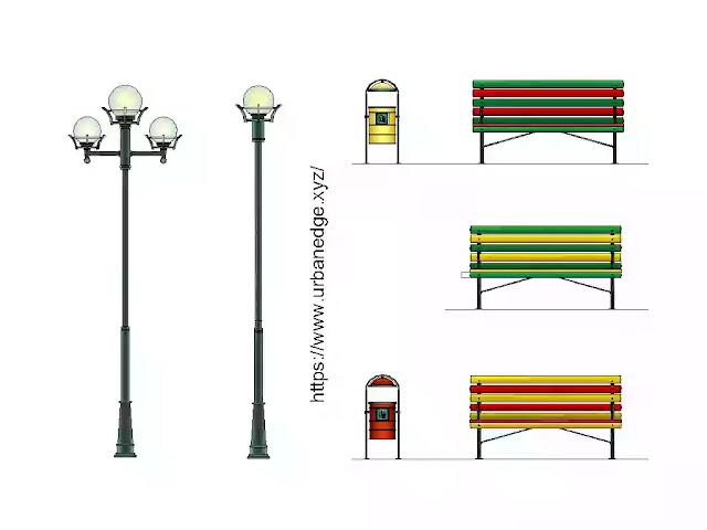 Urban Furniture cad block