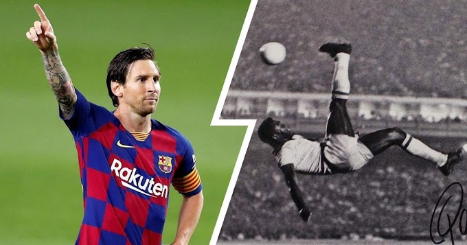 Barca Captain Messi 9 Goals away from breaking football legend Pele all-time record