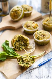 Muffinki ze szpinakiem i fetą
