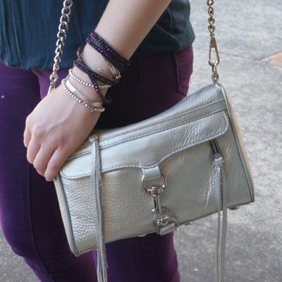 roie designs swarovski beaded wrap bracelet, silver Rebecca Minkoff mini MAC | AwayFromTheBlue