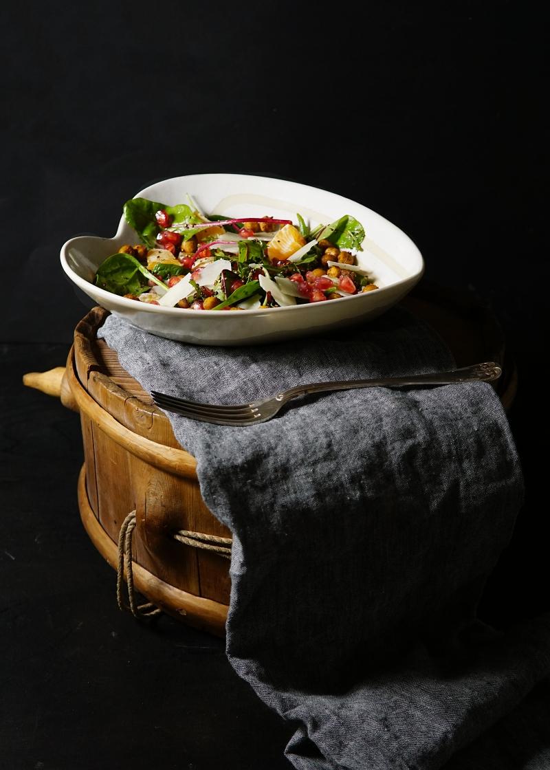 kikherne, salaatti, proteiini