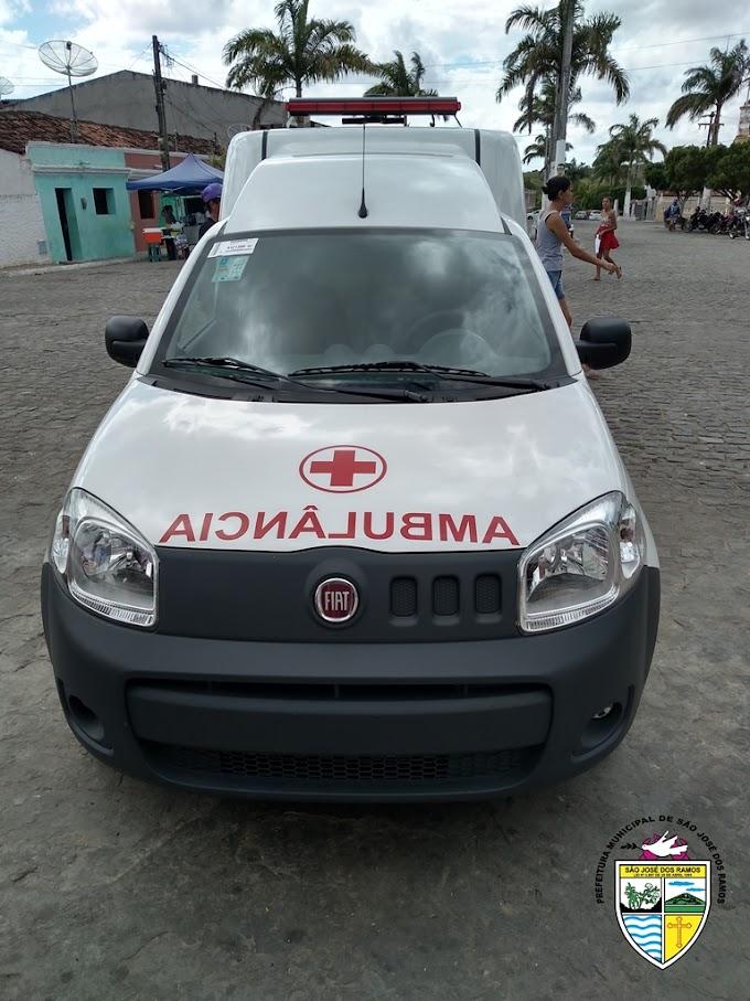 SÃO JOSÉ DOS RAMOS: Prefeitura adquire nova ambulância para transporte de pacientes.