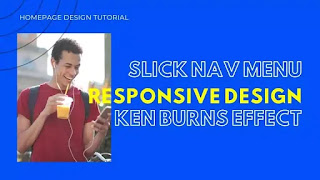 Responsive Homepage Design with Kenburns Effect